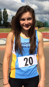 Eliza Withers at the North East combined events championship
