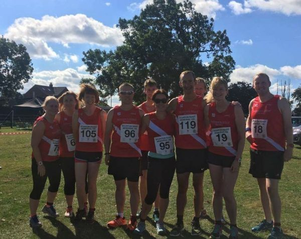 Harriers squad at the Scorton 10k