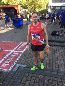 Steve Middleton at the Amsterdam half marathon