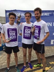 Liam Rabjohn (left) 2nd Sheffield 10k