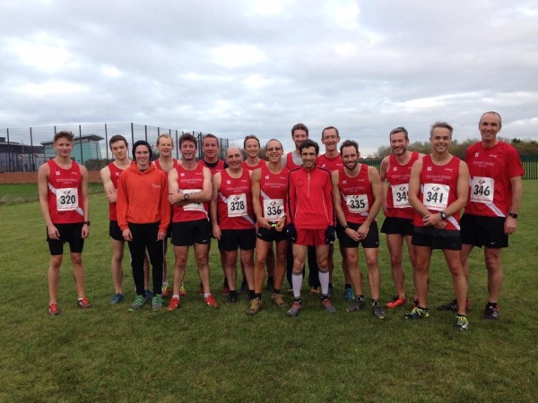 Men's squad at Redcar for the cross country