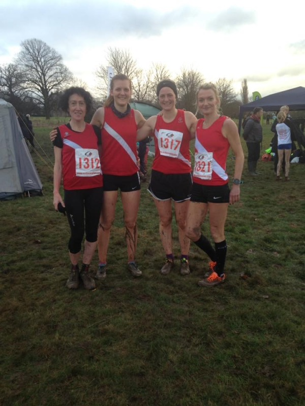 The winning ladies team at the Ormesby Hall cross country