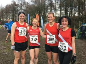 Ladies team at the Northern Cross Country (10th)